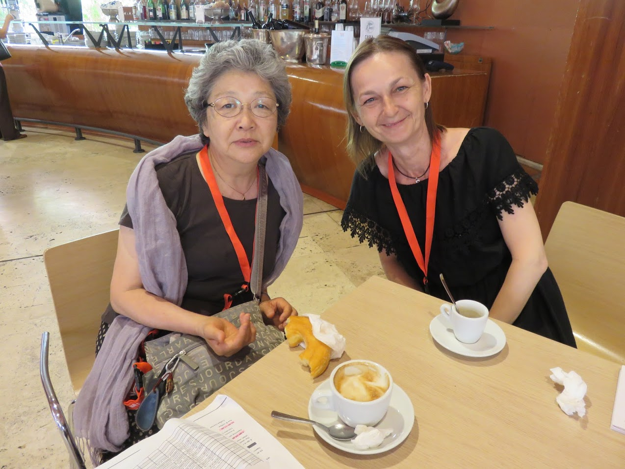 Yasuko Todo and Marianna Zsoldos, photo by Zsoldos