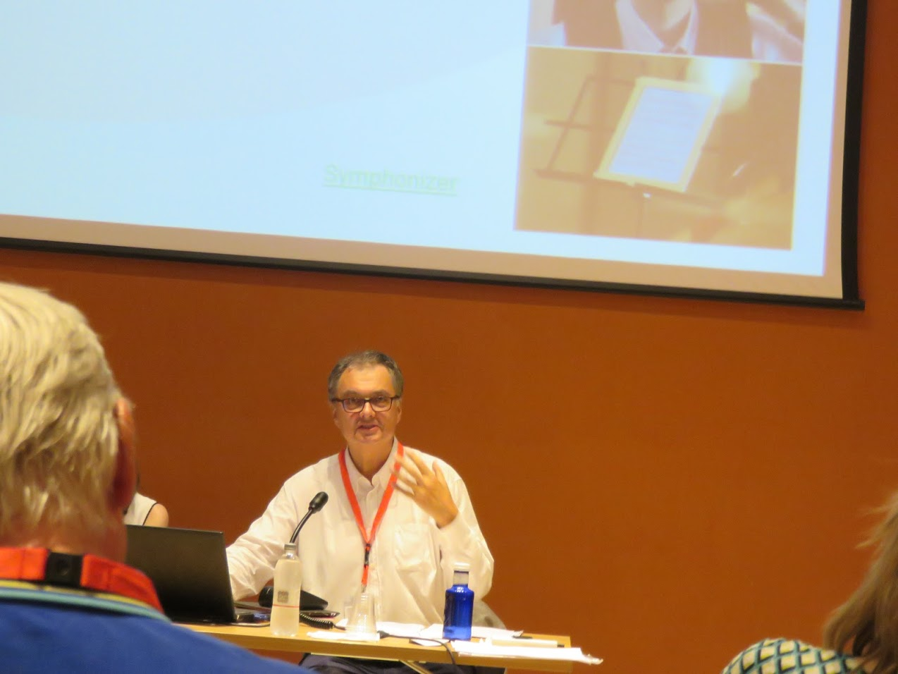 John Valk presentation, photo by Marianna Zsoldos
