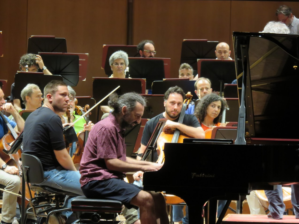 Music Academy of Santa Cecilia Orchestra open rehearsal, photo by Marianna Zsoldos