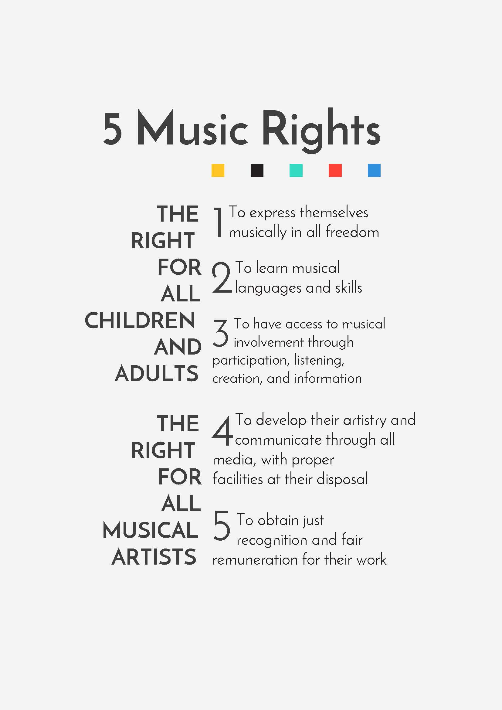 5 music rights
