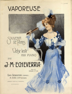 Sheet music to Vaporeuse for piano