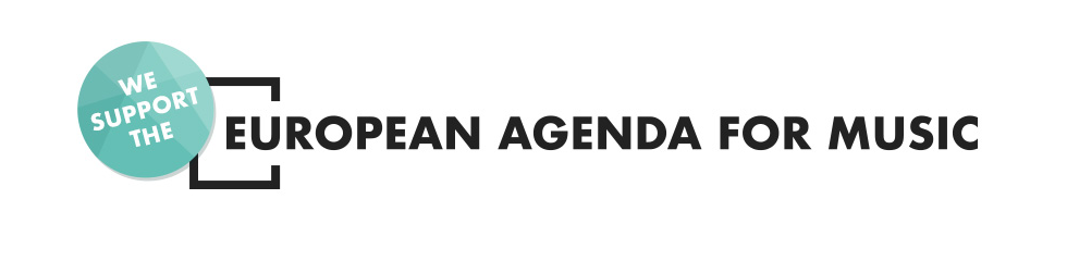 Banner in support of the European Agenda for Music
