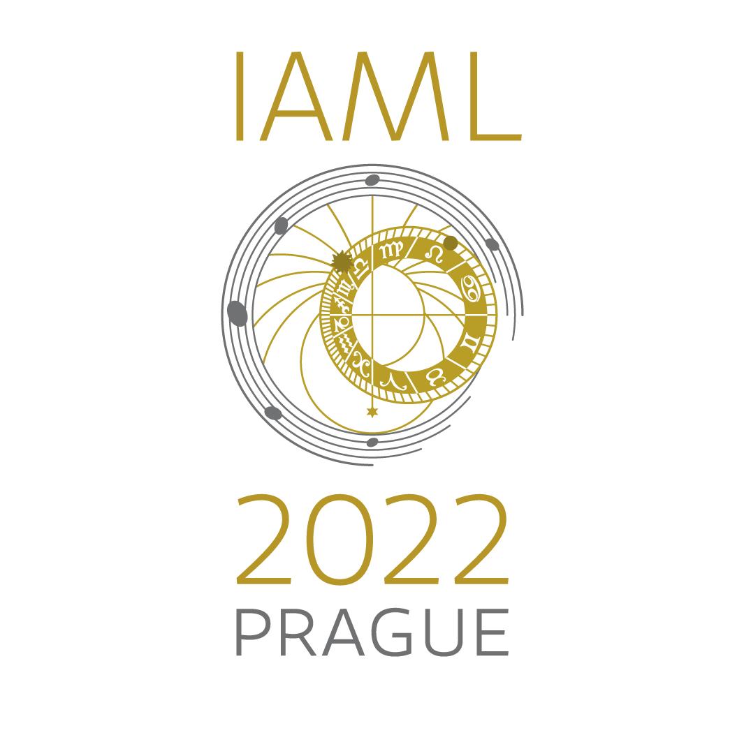 The logo for the IAML Congress in Prague 2021