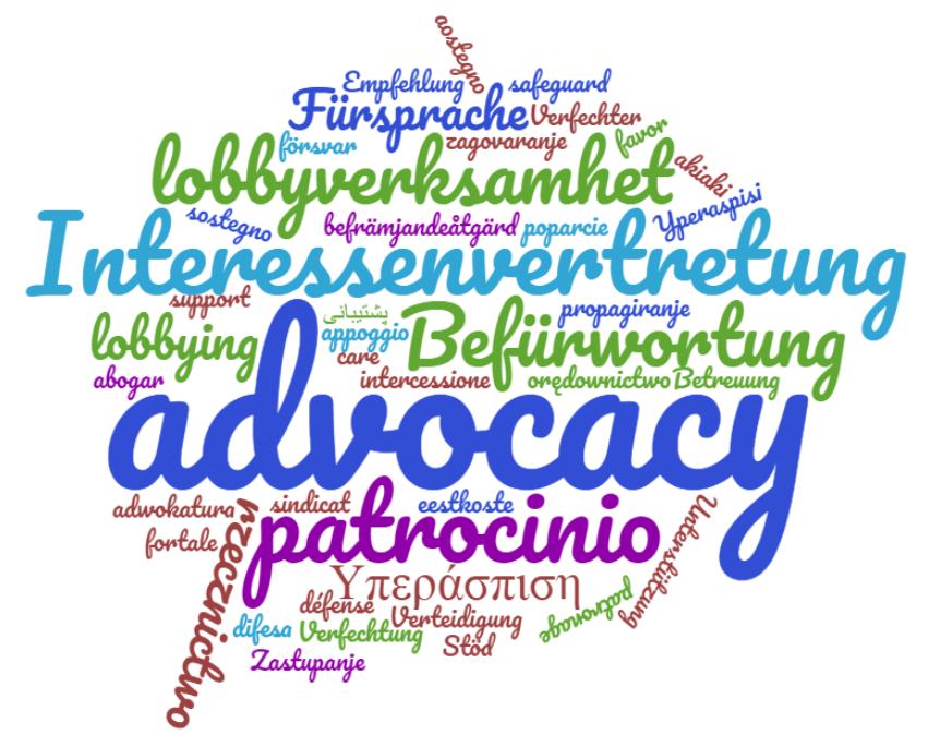Advocacy cloud