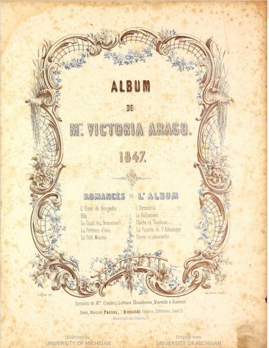 Album / de Mme. Victoria Arago