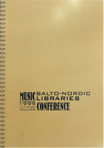 Cover to the Balto-Nordic Conference in 1999
