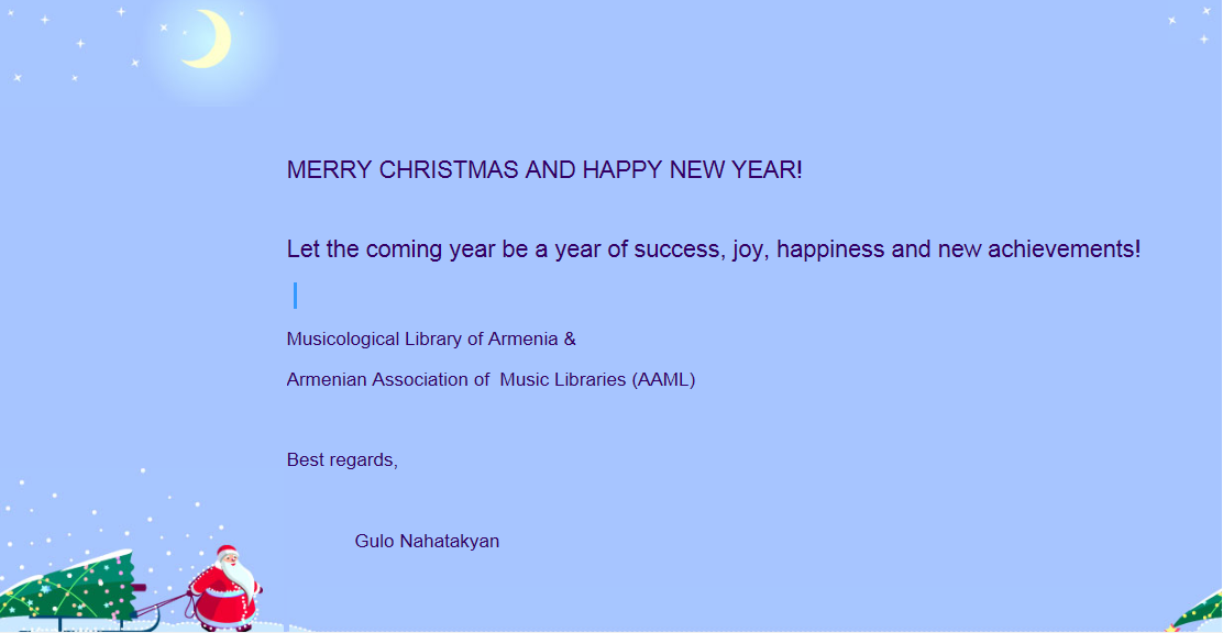 Holiday greetings from armenia iaml holiday greetings from armenia m4hsunfo