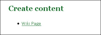 Create content wiki page