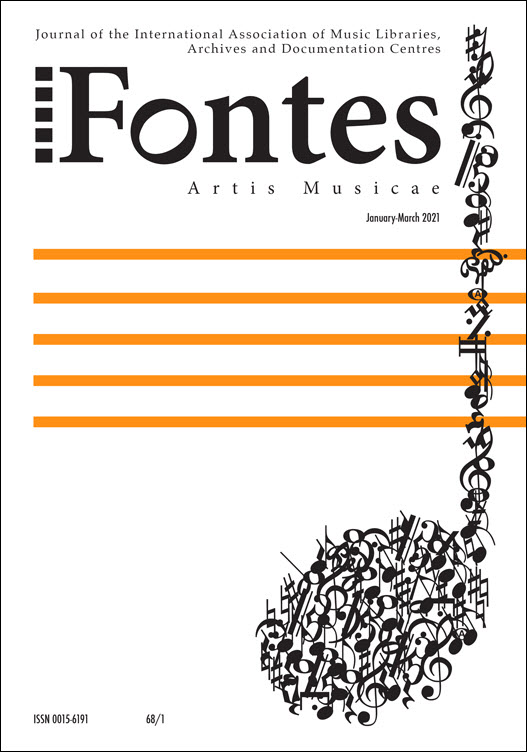 Cover of 68/1 issue of Fontes