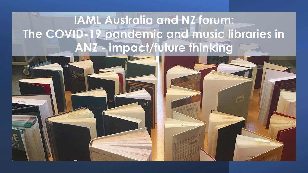 Logo for IAML Australia and New Zealand digital forum