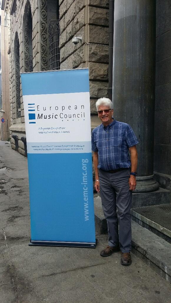 Ian Smith, UK, President of the European Music Council