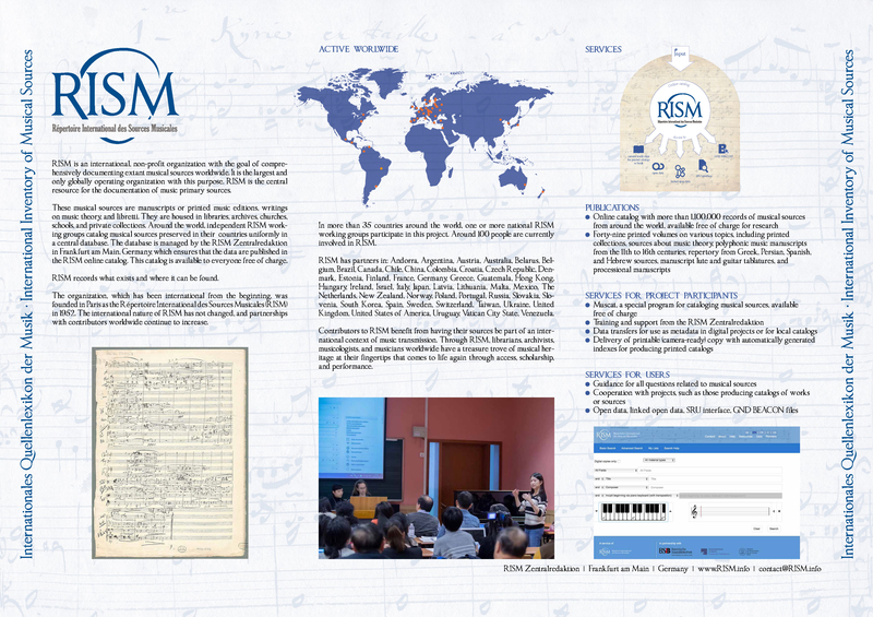 RISM's poster for IMC