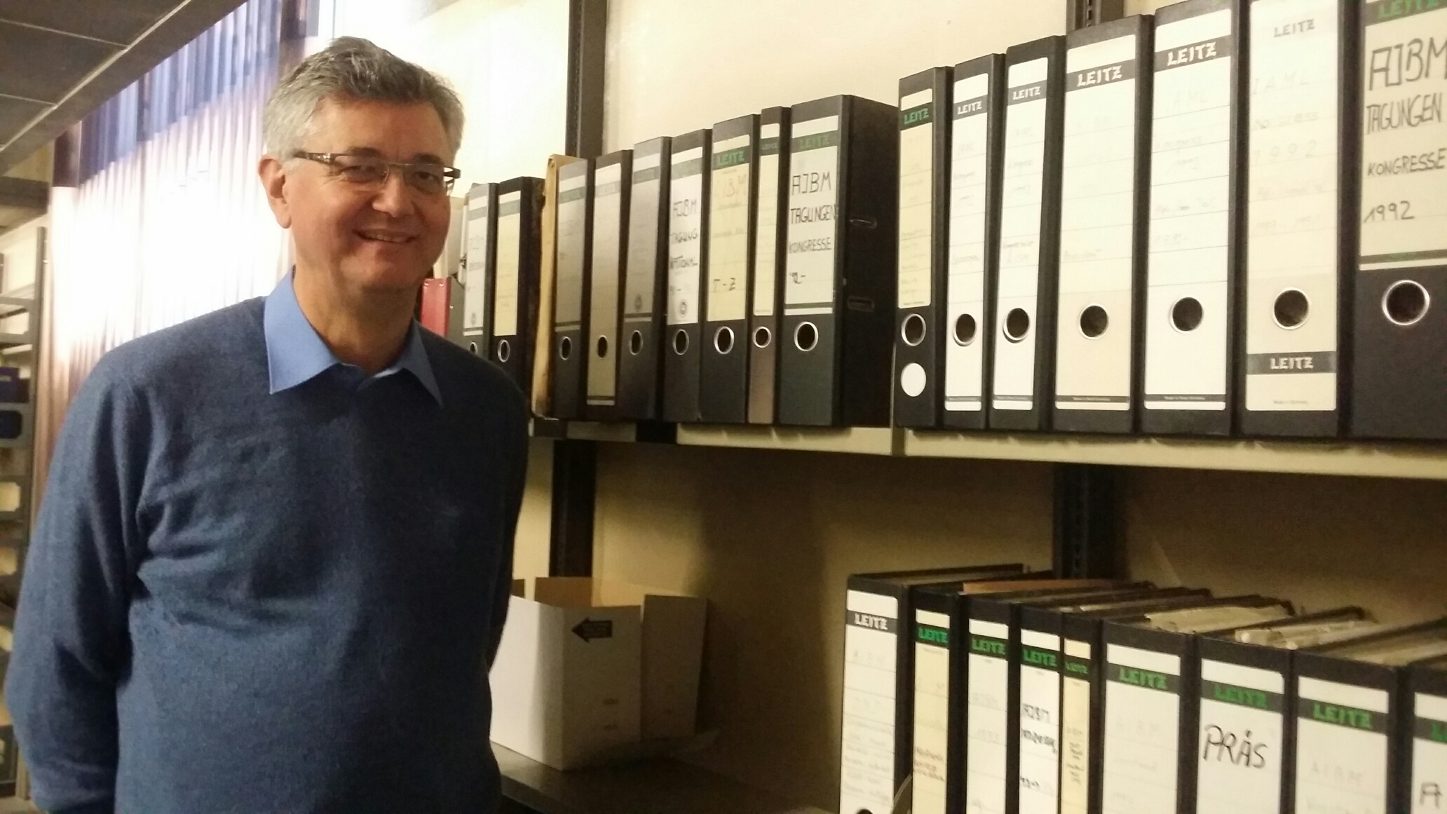 Jürgen Diet with the IAML Germany archive