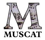 Logo for MUSCAT, the RISM online music cataloging software