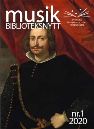 Cover of IAML Sweden journal, Musikbiblioteksnytt