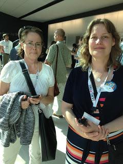 Kerstin Carpvik, Musik- och teaterbiblioteket i Stockholm och Lori Rothstien från RILM i New York