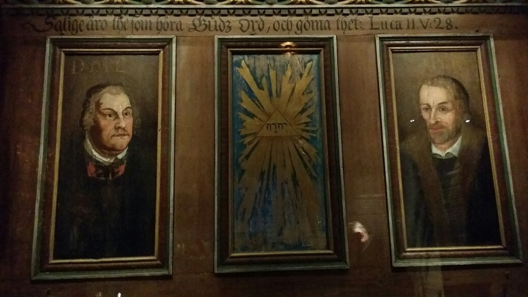 Martin Luther (left) and Phillip Melanchthon (right) – a painting in the cathedral treasury