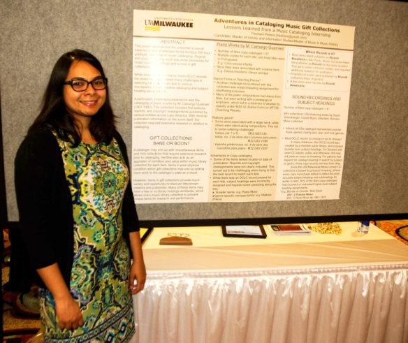 Treshani Perera at her poster session (courtesy of Gerry Szymanski)