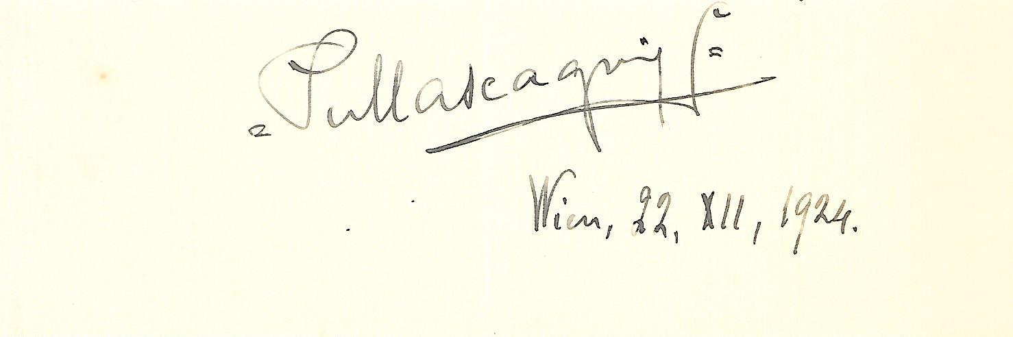 Pietro Mascagni's autograph