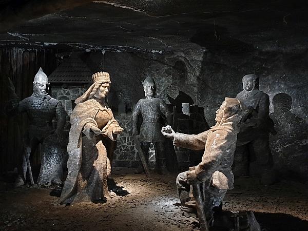 Szent Kinga legendája a Wieliczkai sóbányában