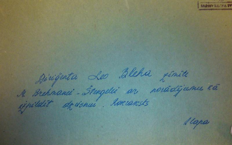 Abb. 04: Archivmappe mit einem Brief Leo Blechs, Staatsarchiv