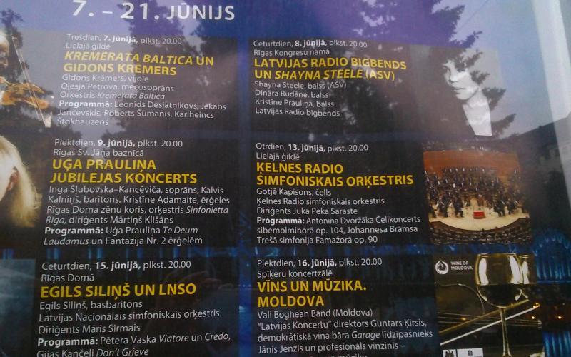 Abb. 07: Ankündigung eines Konzertes des WDR-Sinfonieorchesters in Riga