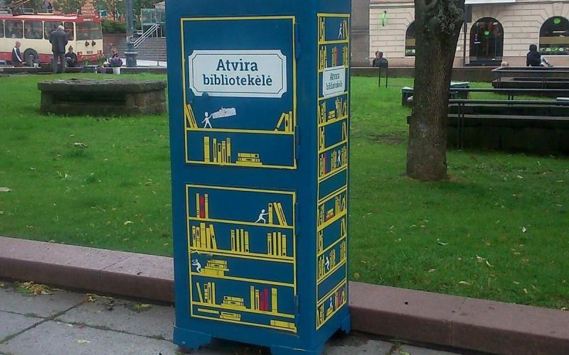 Abb. 08: Bücherschrank in Vilnius (Litauen)