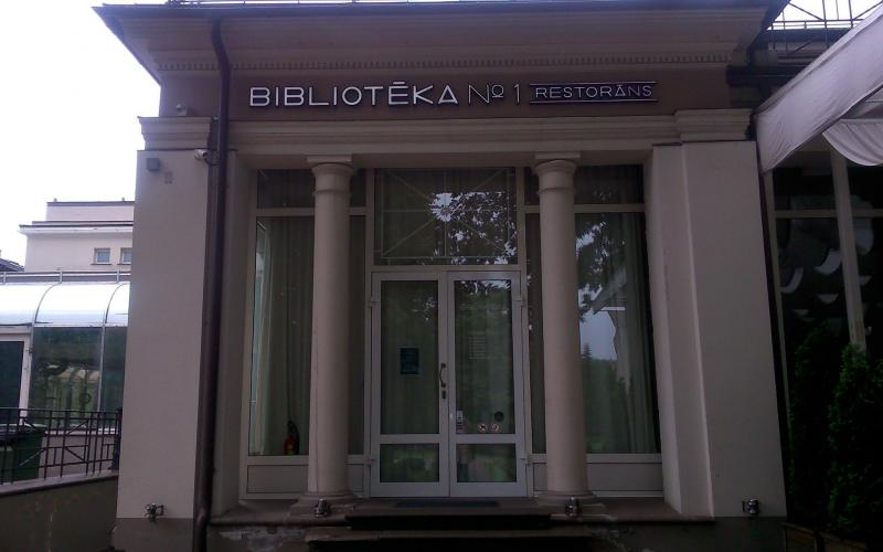 Abb. 11: BIBLIOTĒKA No 1, das Restorāns von Maris Jansons, einem (Beinahe-)Namensvetter des berühmten lettischen Dirigenten.