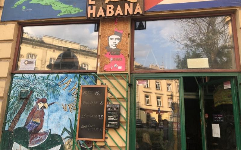 Entrance to La Habana in Kraków, Poland