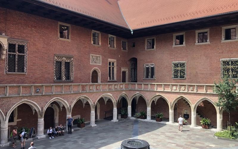 Courtyard in Muzeum Uniwersytetu Jagiellońskiego Collegium Maius