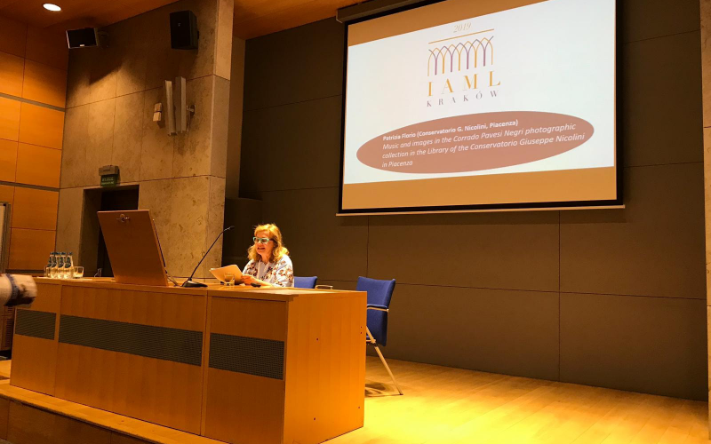 """Patrizia Florio's presentation """"Music and images in the Corrado Pavesi Negri photographic collection in the library of the Conservatorio Nicolini  Patrizia Florio (Conservatorio Nicolini di Piacenza)"""""""