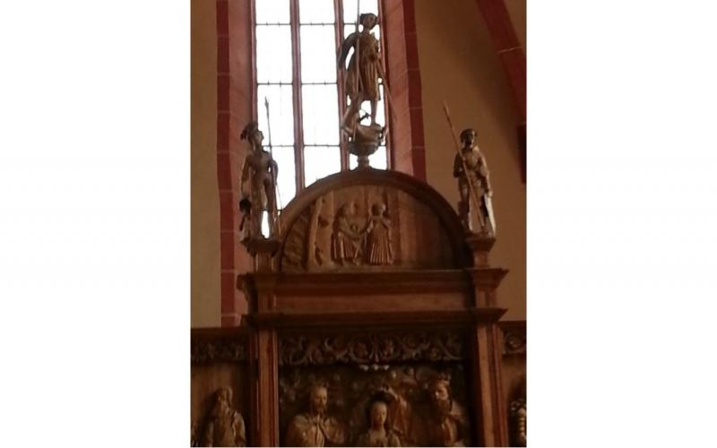Image of wood carving in Rötha church