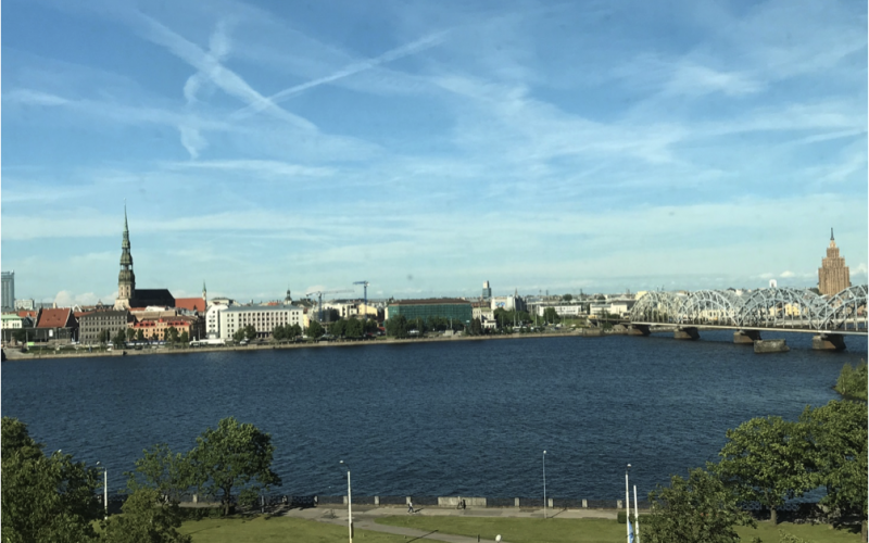 Riga. Udsigt fra Nationalbiblioteket/View from the National Library