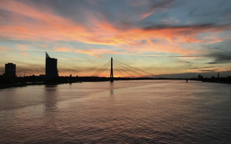 Riga. Solnedgang/Sunset