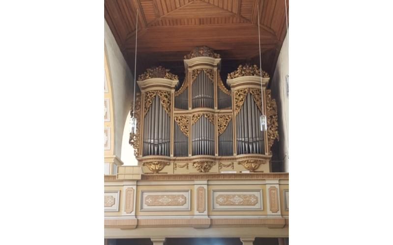 The organ of the Georgskirche in Rötha